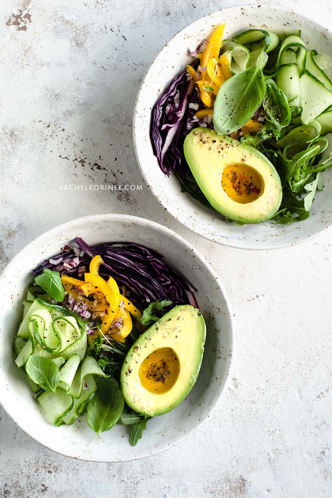 Rachel Korinek Food Photographer | Avocado Salad Bowl. Click to check out my latest food photography projects.  #twolovesstudio #beautifulcuisine #foodbloggerpro #foodphotography #learnfoodphotography #foodblogger #learnphotography #foodstyling #lightingtips #naturallight #foodphotographer