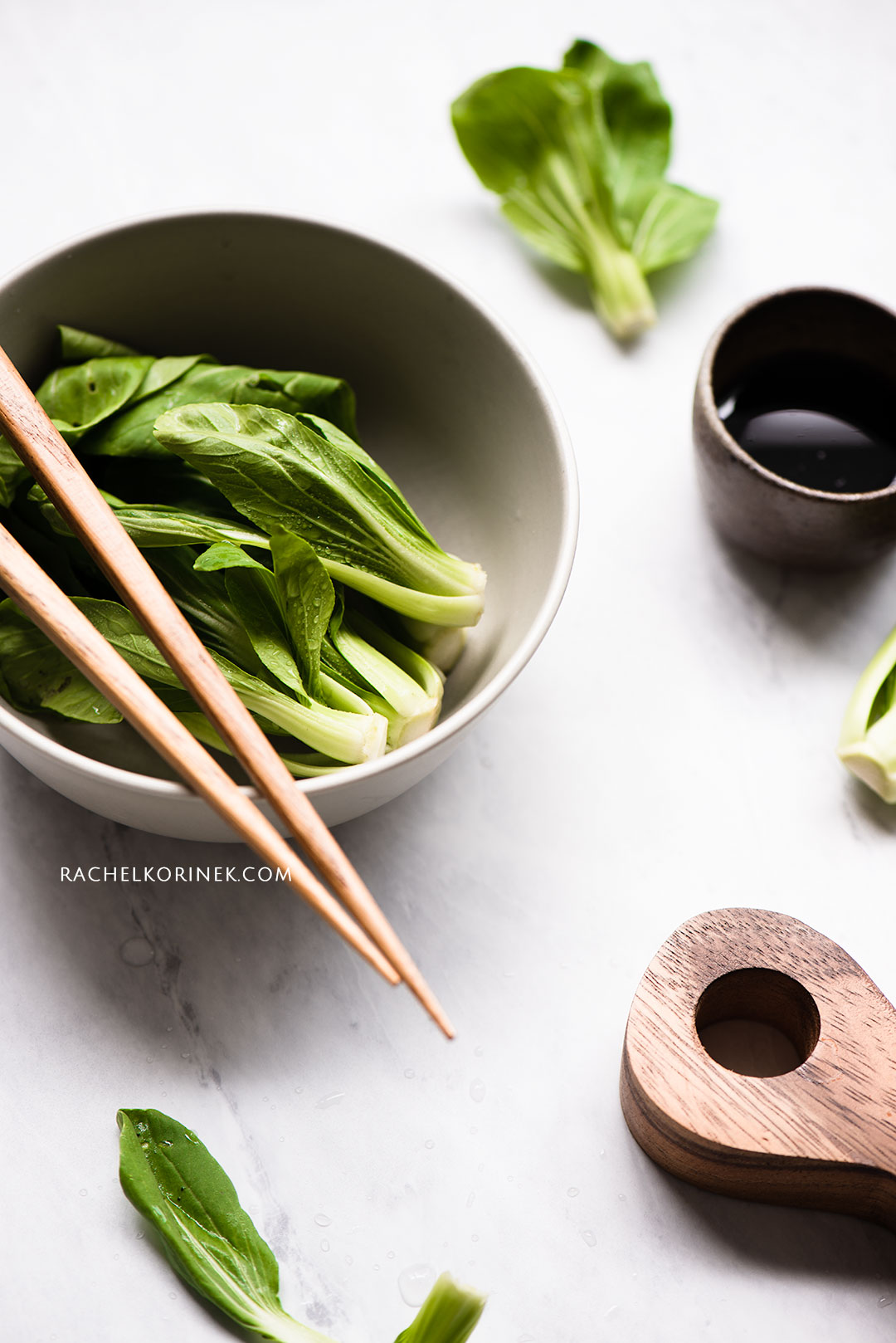Rachel Korinek Food Photographer | Baby Bok Choy  Click to check out my latest food photography projects.  #twolovesstudio #beautifulcuisine #foodbloggerpro #foodphotography #learnfoodphotography #foodblogger #learnphotography #foodstyling #lightingtips #naturallight #foodphotographer