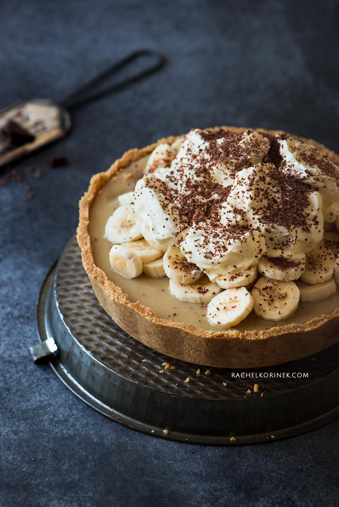 Rachel Korinek Food Photographer | Banoffee Pie  Click to check out my latest food photography projects.  #twolovesstudio #beautifulcuisine #foodbloggerpro #foodphotography #learnfoodphotography #foodblogger #learnphotography #foodstyling #lightingtips #naturallight #foodphotographer