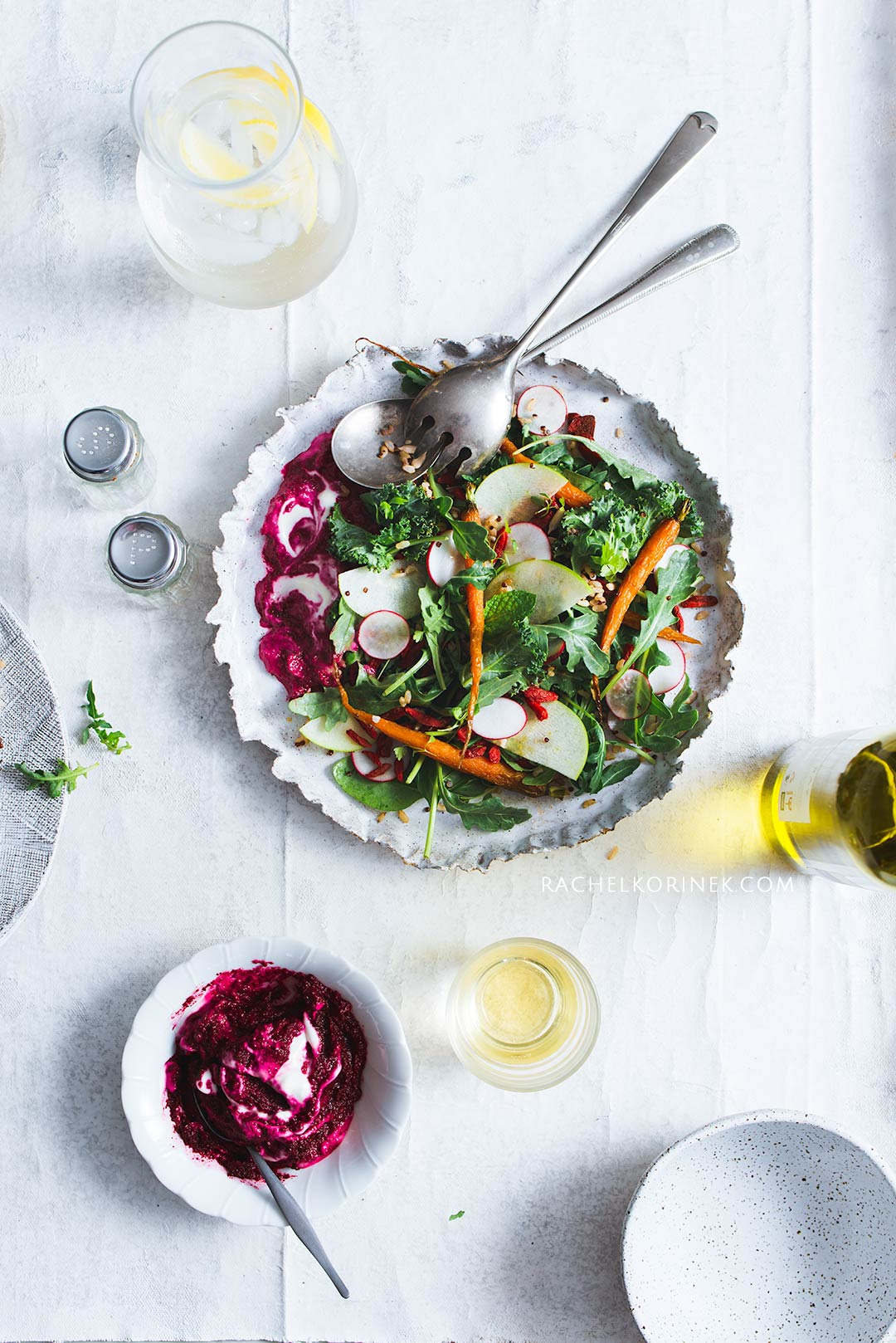 Rachel Korinek Food Photographer Beetroot Labne Grain Salad  Click to check out my latest food photography projects.  #twolovesstudio #beautifulcuisine #foodbloggerpro #foodphotography #learnfoodphotography #foodblogger #learnphotography #foodstyling #lightingtips #naturallight #foodphotographer