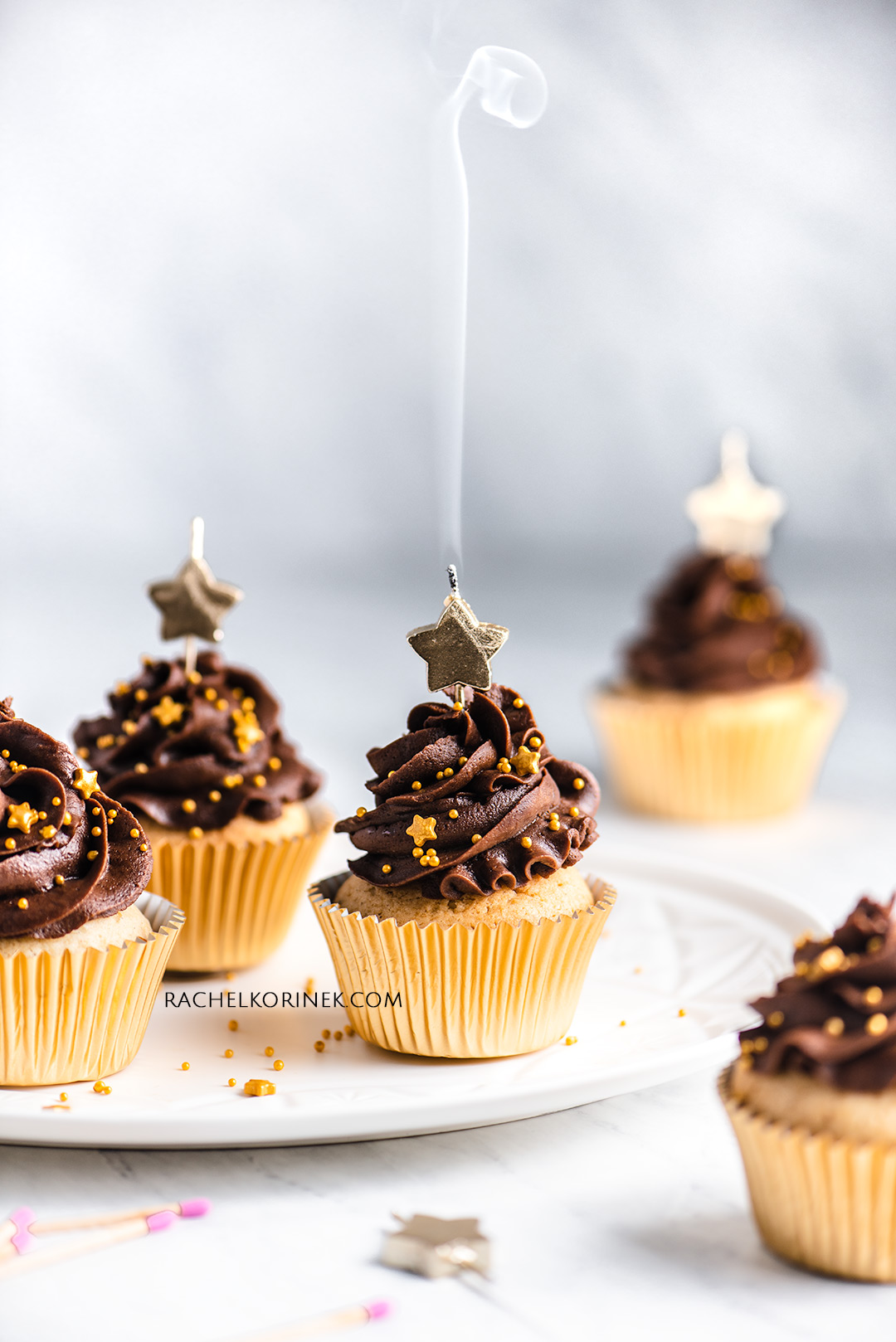 Rachel Korinek Food Photographer | Chocolate Cupcakes  Click to check out my latest food photography projects.  #twolovesstudio #beautifulcuisine #foodbloggerpro #foodphotography #learnfoodphotography #foodblogger #learnphotography #foodstyling #lightingtips #naturallight #foodphotographer