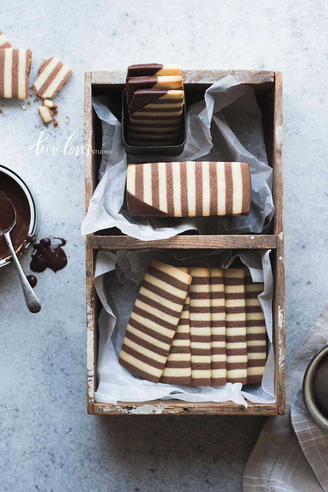 Rachel Korinek Food Photographer | Zebra Cookies