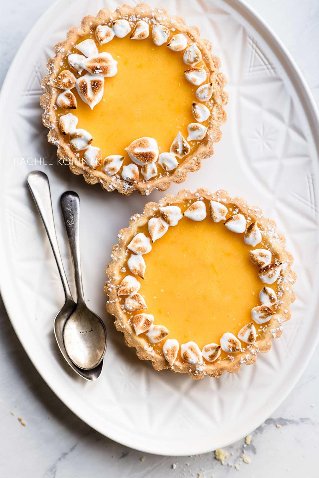Rachel Korinek Food Photography | Lemon Meringue Tarts Wreaths