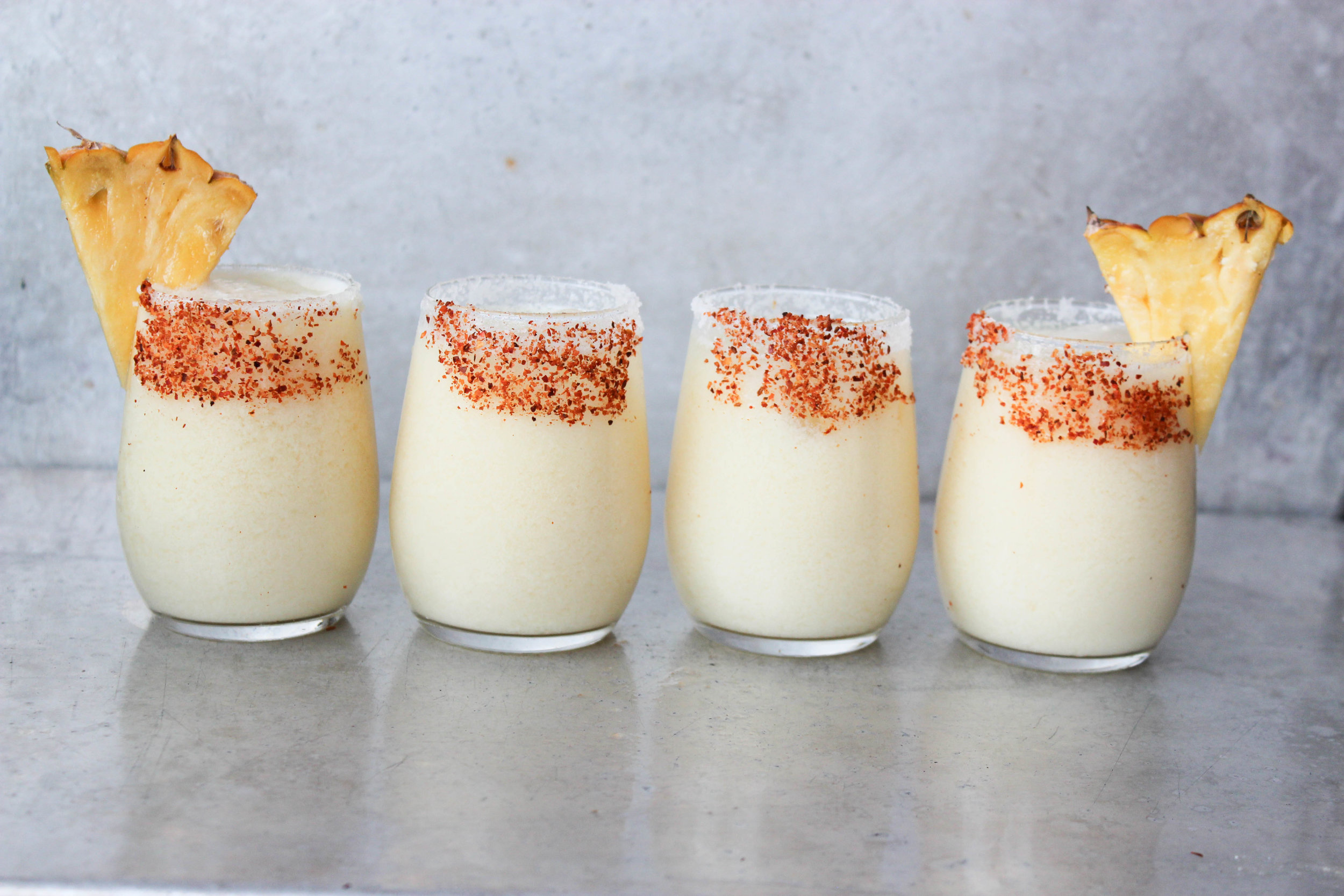 Frozen Spicy Pineapple and Coconut Daiquiri