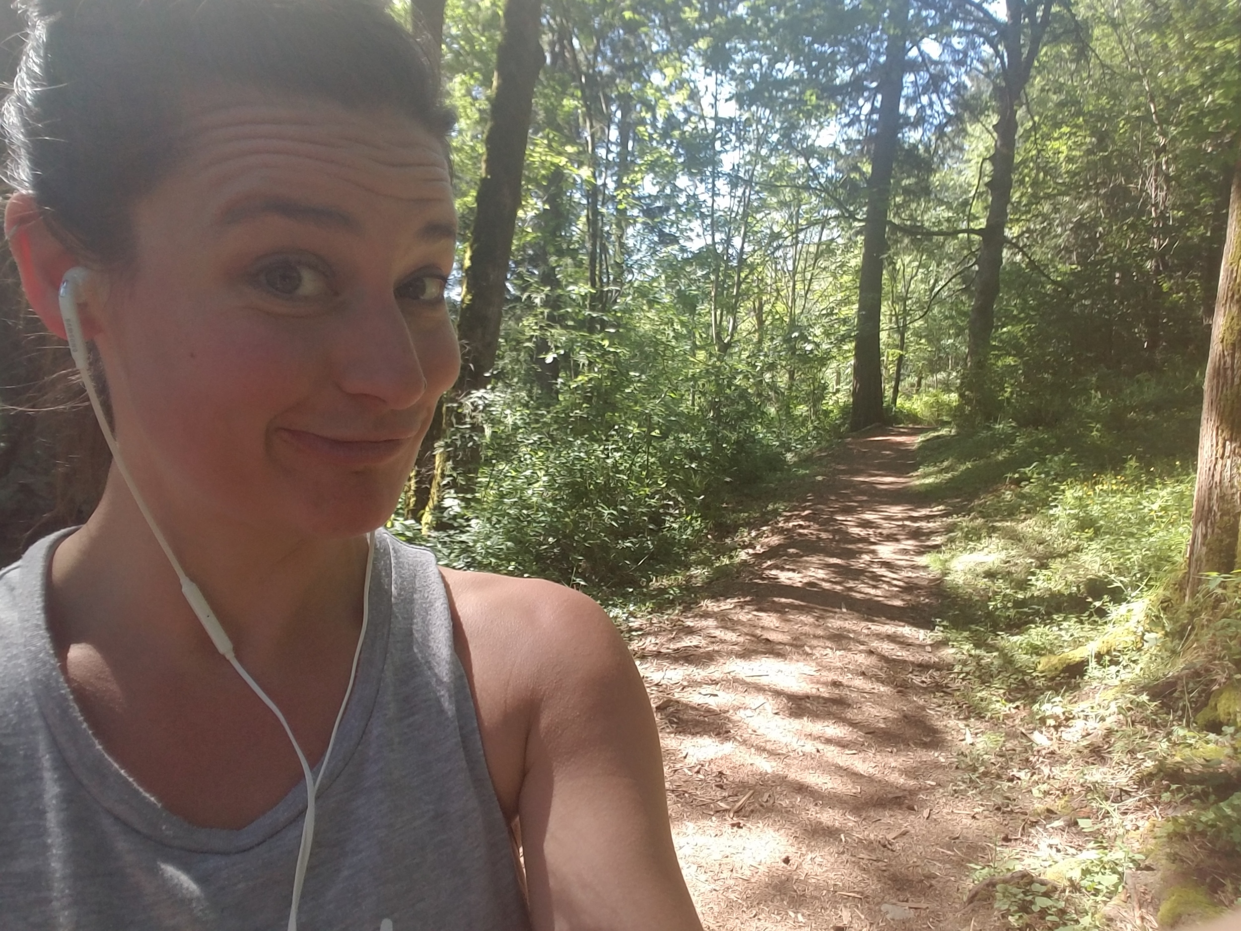 Running in the woods. We got this.