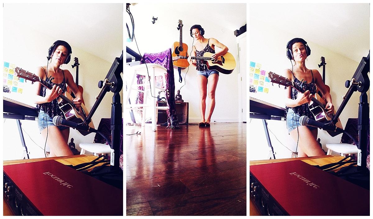 cha wilde - acoustic guitar recording session music studio