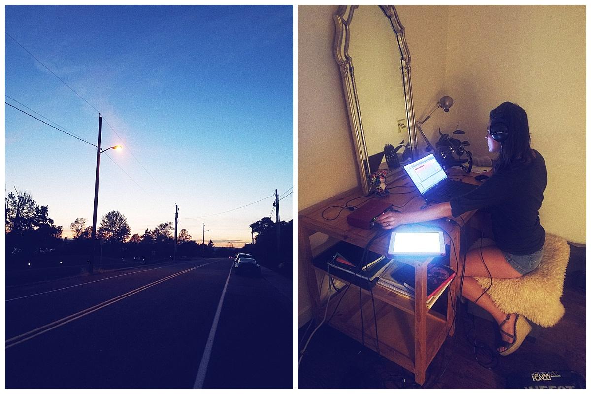 cha wilde recording session nighttime music studio musica rooms