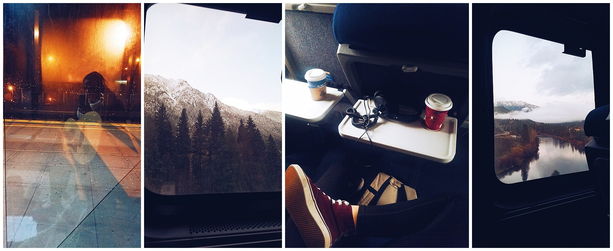 **photos taken on train journey from Wenatchee to Seattle -- a peaceful return to something new at the end of my two week vacation.