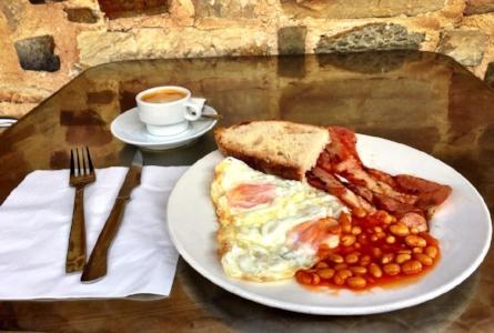 A British breakfast in Spain