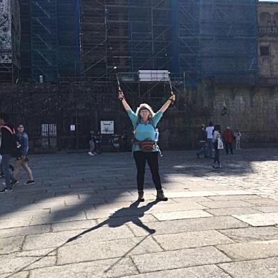 The arrival in Santiago de Compostela - 2017