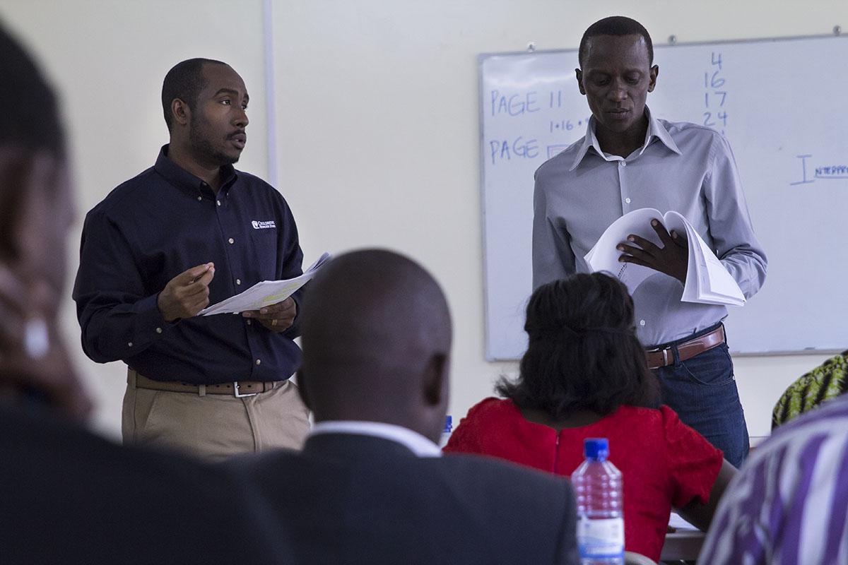 RWANDA: [Bible Study Methods Training] Pastor Stanley Translated the teaching into Kinyarwanda -the heart language of the people.