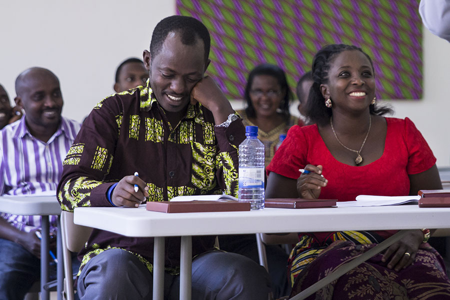 RWANDA: [Bible Study Methods Training] Pastor Godfrey and his wife Mercy sat front row during our training, soaking up every bit of it with joy.