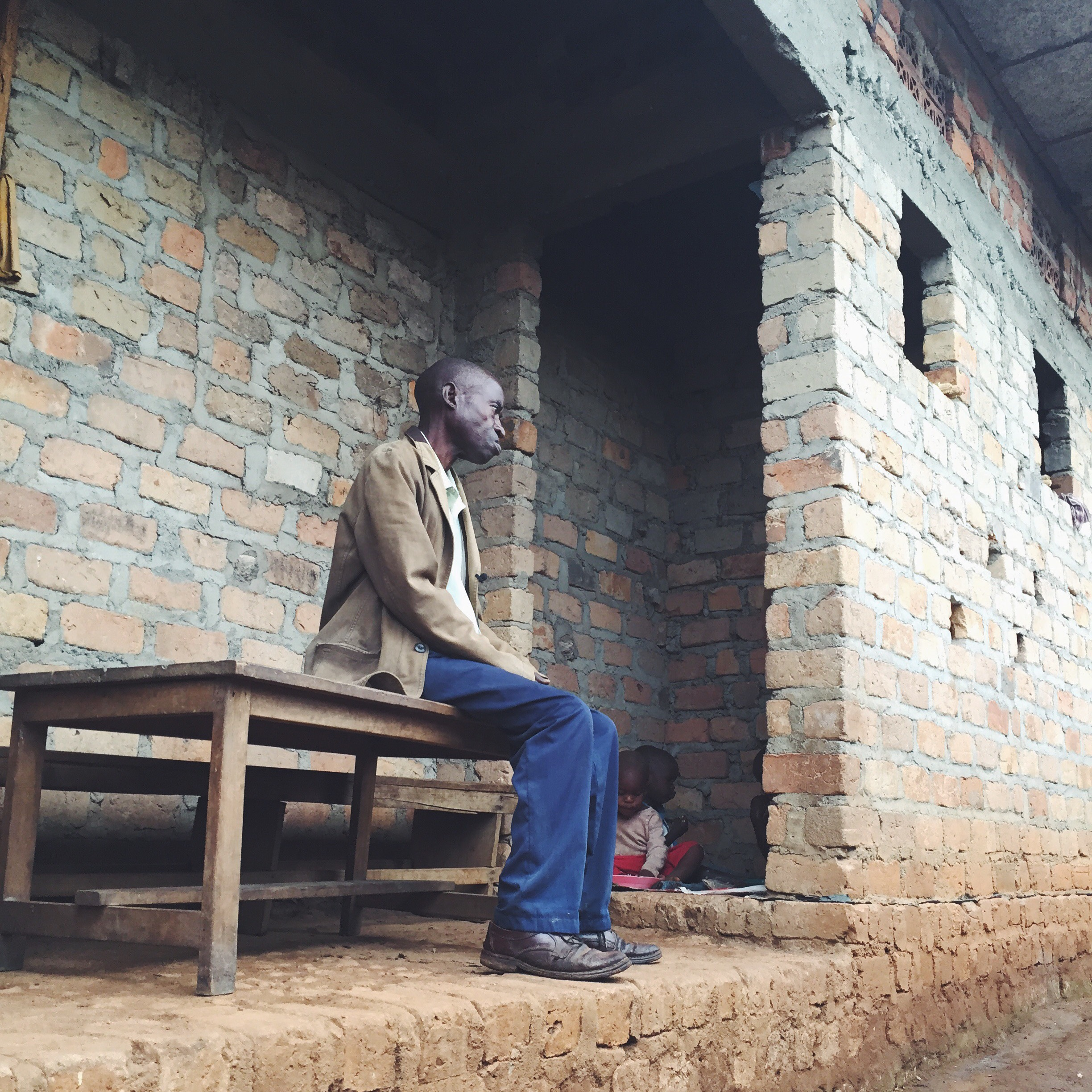 UGANDA: [Home Visit] Mr. Sentongo takes care of his 3 grandchildren living in an abandoned building. His daughter is on the streets and doesnt take care of them so he does. Mr. S was another instant hero. I wrote about him later that day on an instagram post.
