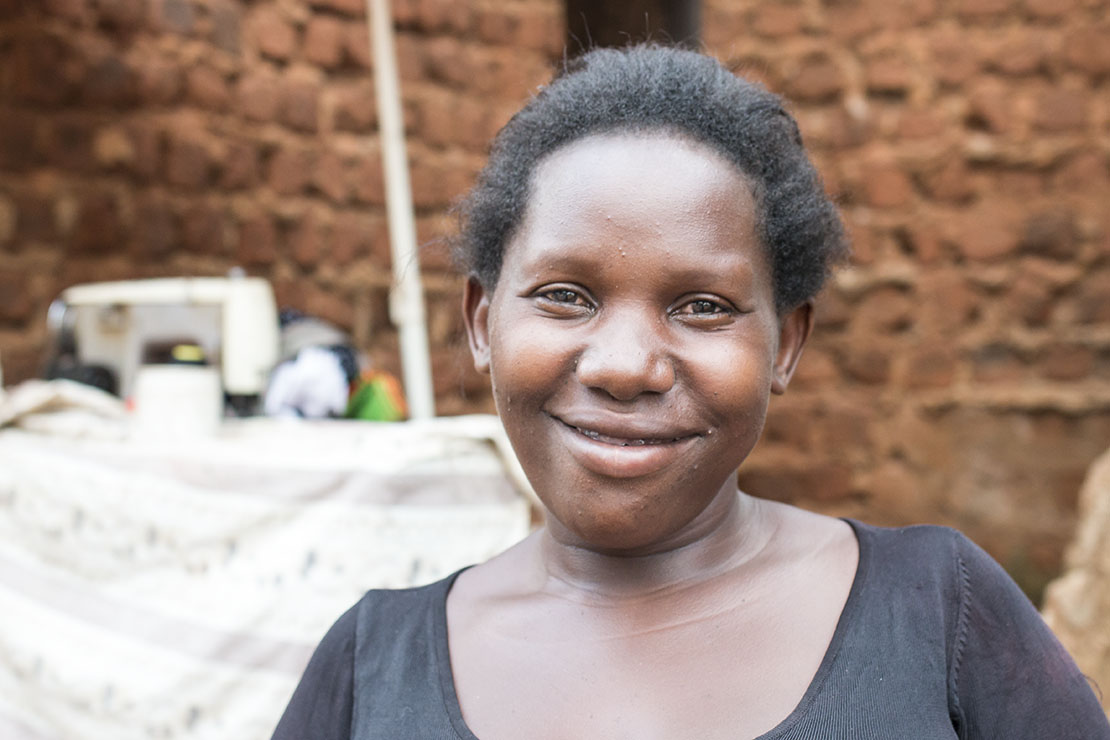 UGANDA: [Recipient Visit] Rose is a graduate of one of the church's tailoring programs. Before entering the program she was a prostitute, selling herself just to get by. Now she takes women off the street and teaches them to sew and make clothes to sell instead of their bodies..