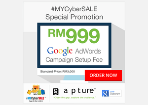 Gapture Malaysia Participating in #MYCyberSALE as Google Partner