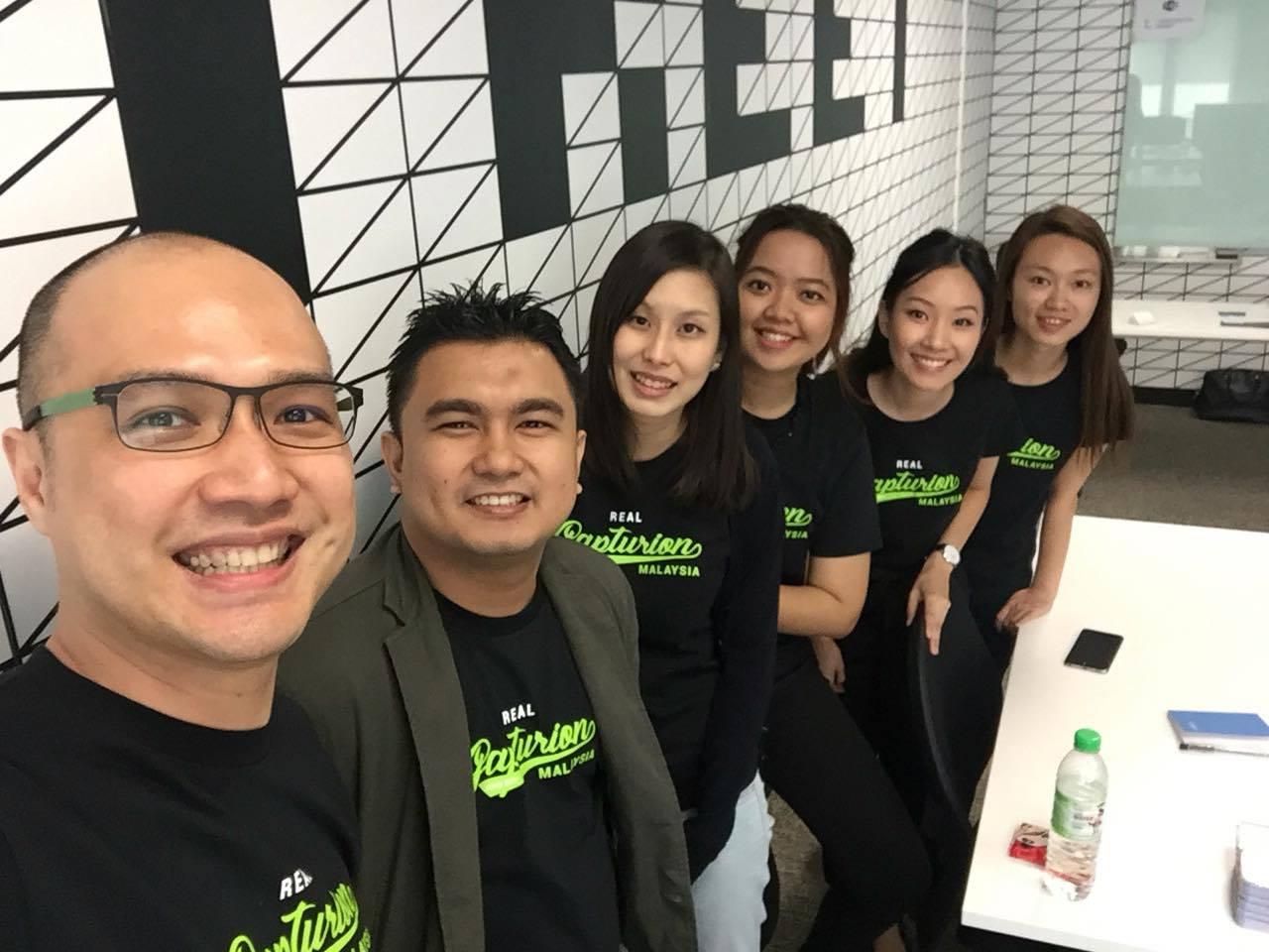 Gapturions: (From left to right) Stanley Chee, Amirul Faisyal, Jilian Liew, Erra Fazira, Nadine Ong (intern) and Loh Sook Yee (intern).
