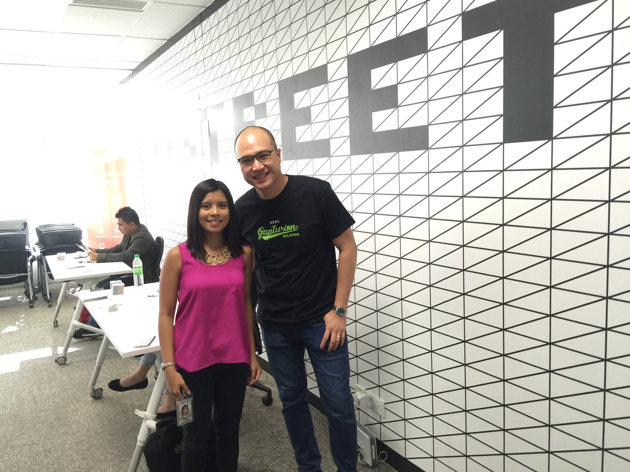 Stanley Chee and Denise Gamo (Google Malaysia's Head of SMB Marketing)