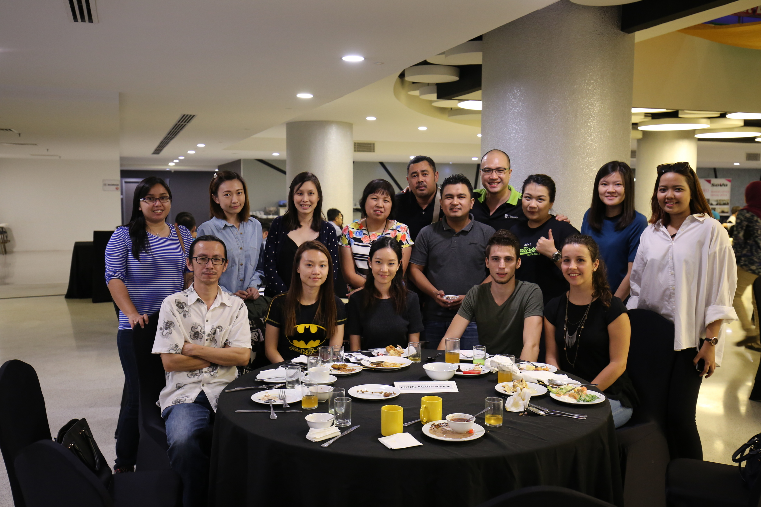 Fellow Gapturions:  Front (from left to right): Fairoz, Sook Yee, Nadine, Alix's boyfriend, Alix  Back (from left to right): Lisa, Josephine, Jilian, Bee Kim, Aji, Amirul, Stanley, Jackie, Lee Yee, Erra