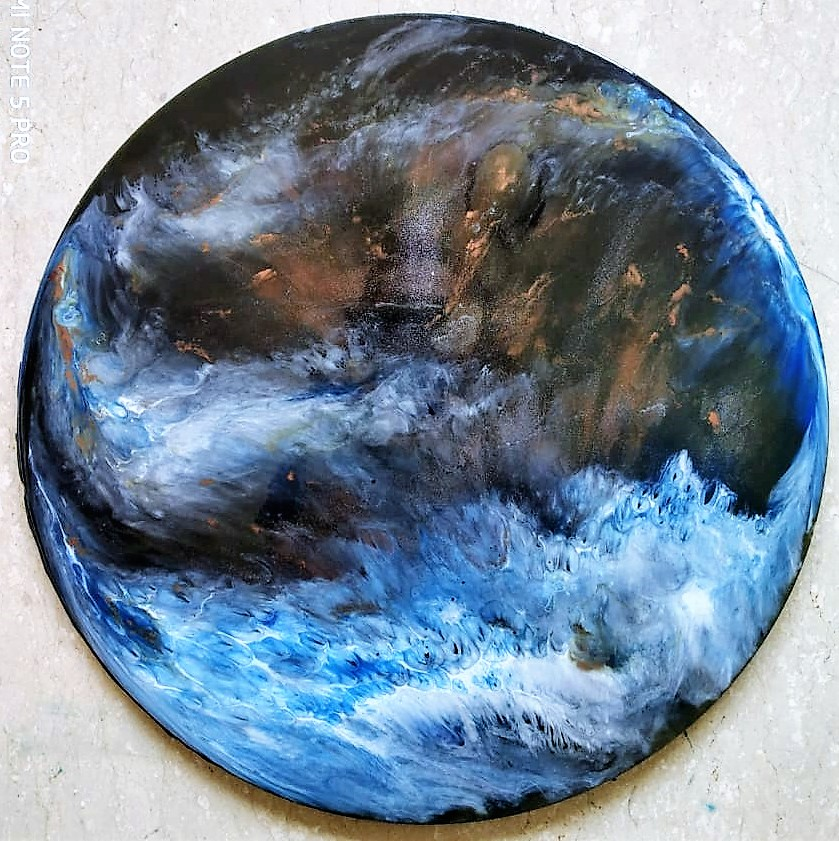 Resin on MDF - SOLD