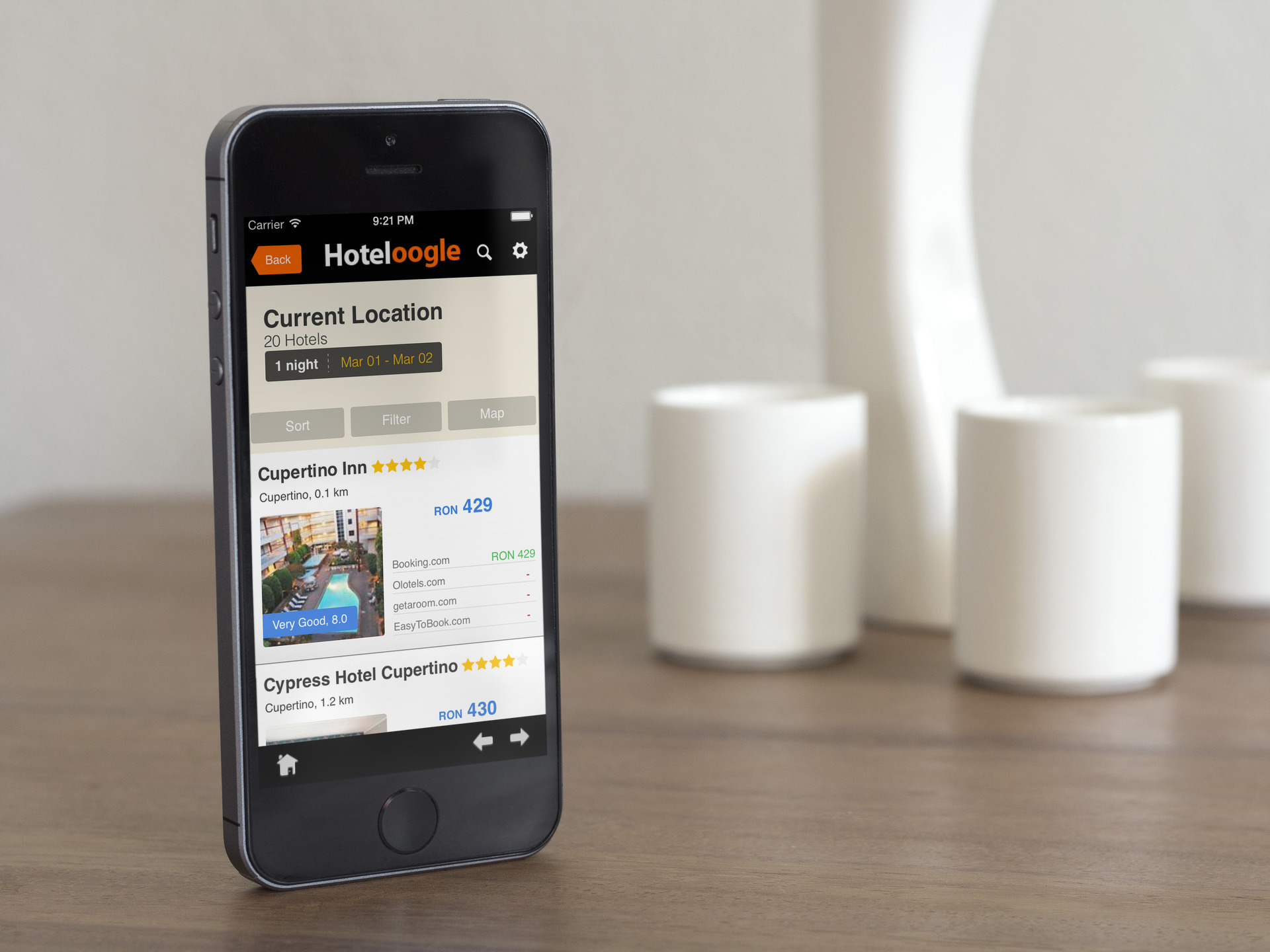 Hoteloogle - iOS Application