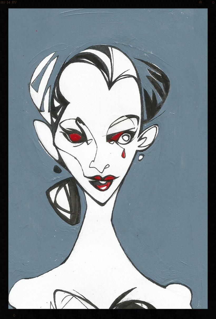 Promotional art.  Swan Queen.  Acrylic on paper. Artist  Matthew Phipps Hines .