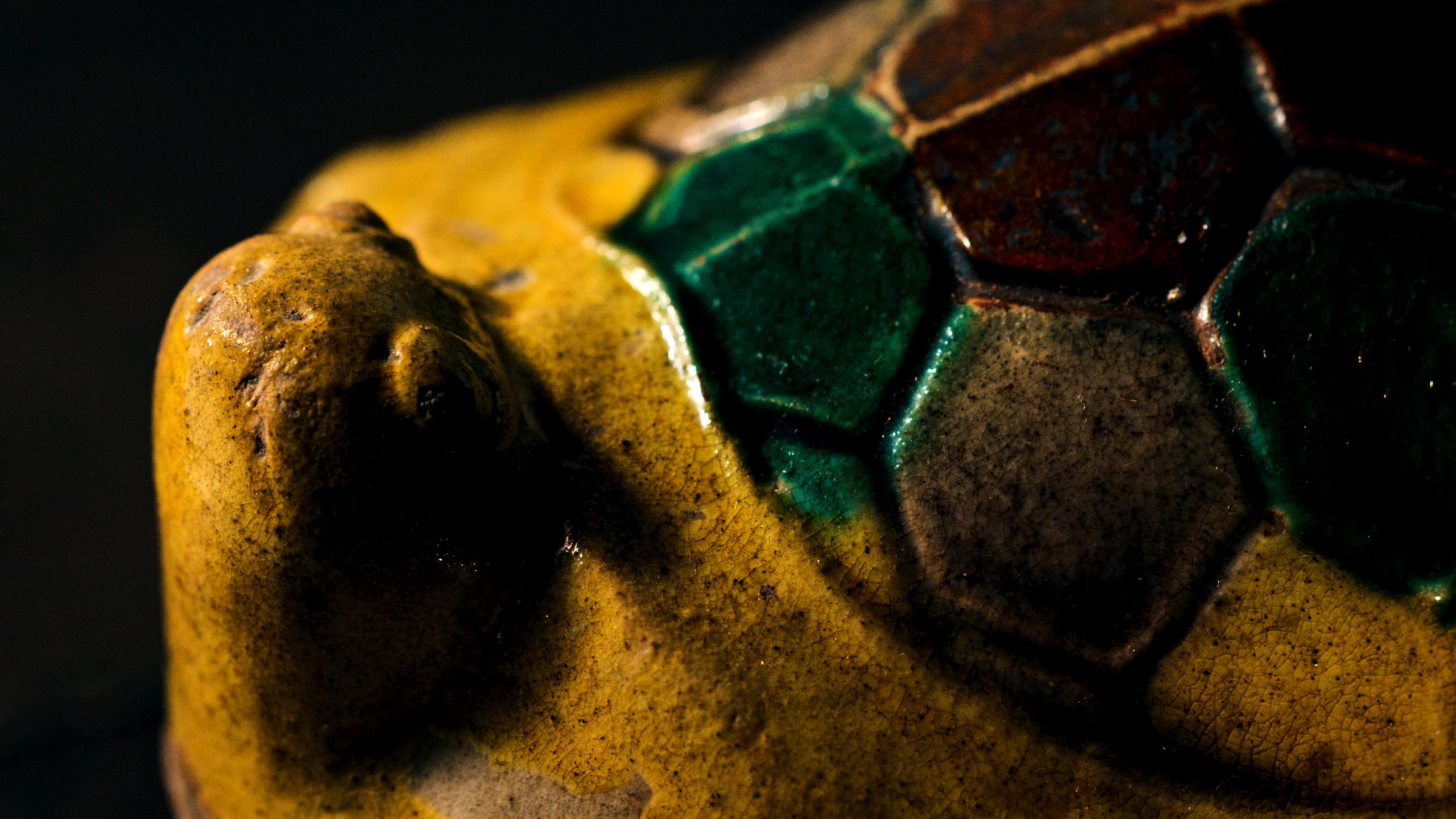 重要文化財 交趾大亀香合 Important Cultural Property Incense Container (KōGō), Cochin ware with turtle-shaped lid