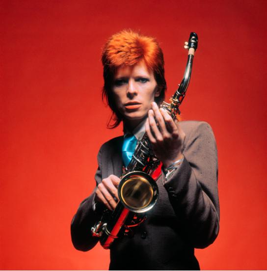 Bowie, SAX CU colour, 1973