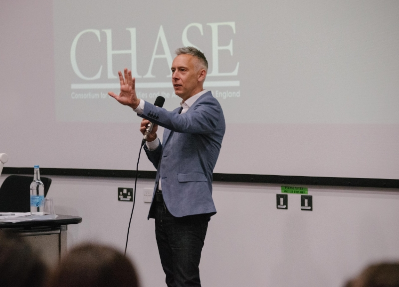 Dr Paul Lawrence, (Open University) Chair of CHASE DTP Training & Development Group, introduces the strands of the CHASE  cohort development programme .