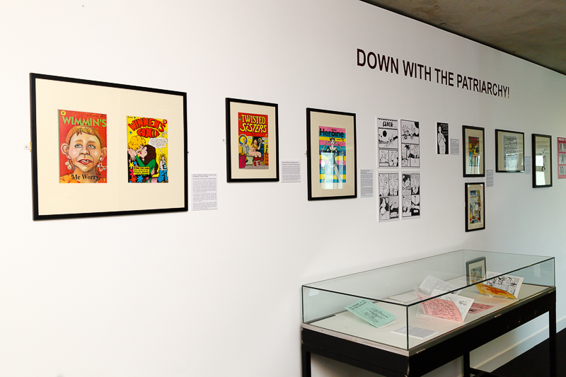 """There is an Alternative: Critical Comics and Cartoons"" at the Templman Library at the University of Kent until 1 July 2016"