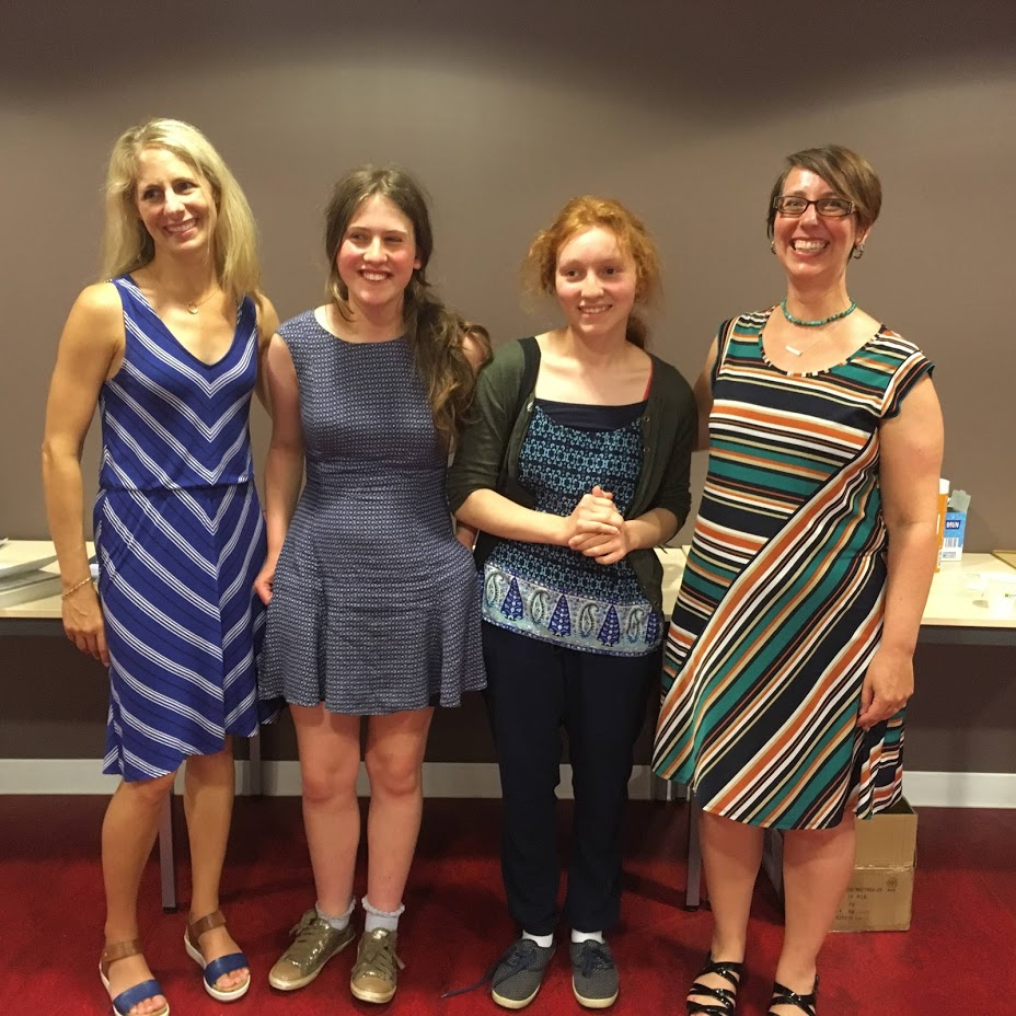 From left to right: Elise Hooper (historical novelist), Amelia, Poppy, Prof Marlowe Daly-Galeano