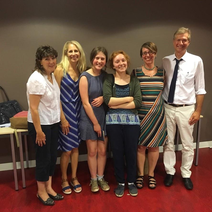 From left to right: Sheila Glenn, Elise Hooper, Amelia Platt, Poppy Henson, Marlowe Daly-Galeano, David Glenn.