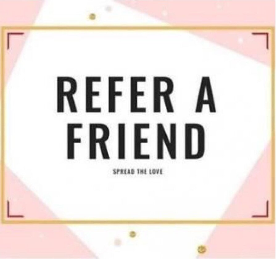 Thank you for your continued support. Refer a friend and you will both receive a prescribed Wella product at your next service, quote #FRIEND when booking a service