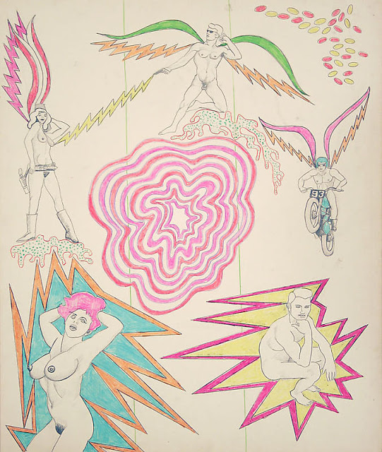 © Robert Smithson  Untitled [Psychedelic center pink], 1964