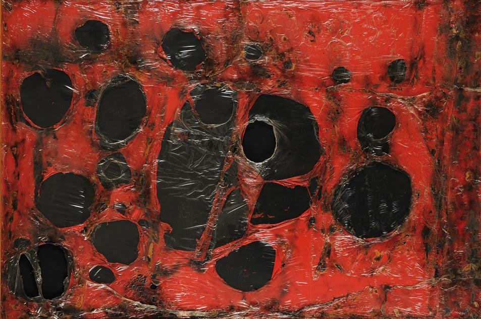 """Alberto Burri, """"Rosso Plastica M3"""", 1961, Fondazione Palazzo Albizzini Collezione Burri"""