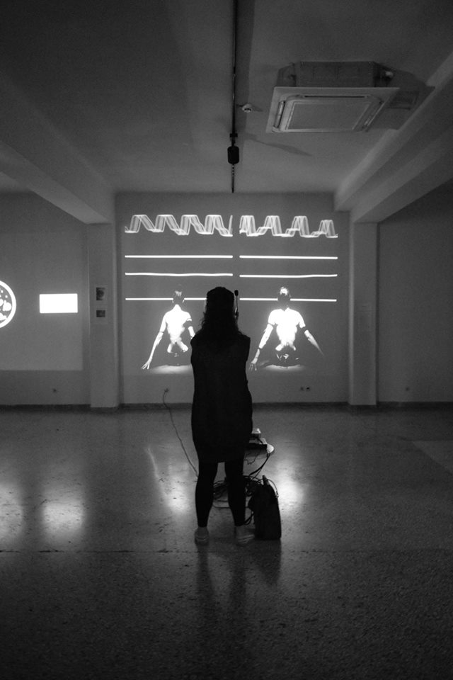 10VE Sequence for Two screened durning the video exhibition of TRASNSMISSION ART FESTIVAL at Romantso, Athens