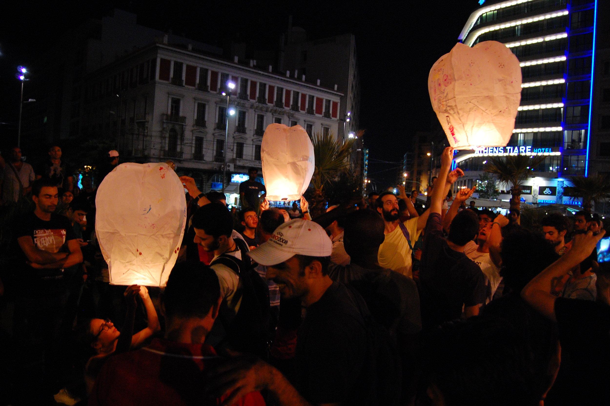 Helen Zervou | Free Araf. Participatory performance on Omonoia Square