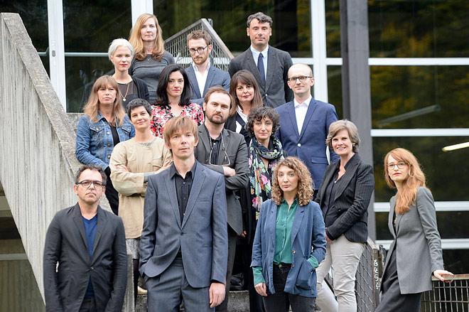 Artistic Director Adam Szymczyk with first team members of documenta 14. Photo ©Nils Klinger, courtesy of Documenta.