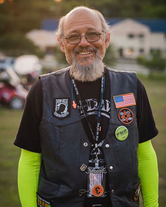 Harrold was spit on when he returned home from serving in the Vietnam war. Riding across the country on #rftw has shown him shown him that people care and are grateful for his service. He rides in memory of fallen soldiers and for those serving now... To make sure no one is forgotten, and that all those serving feel supported. #ridingtoserve #runforthewall #rollingthunder
