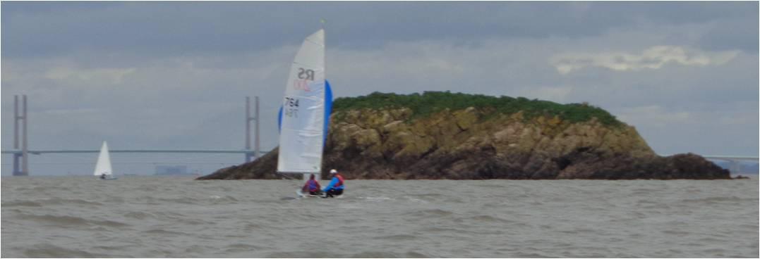 Boats approaching Denny Island