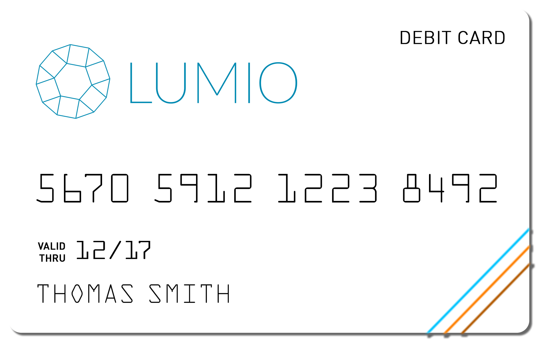 Lumio bank card design