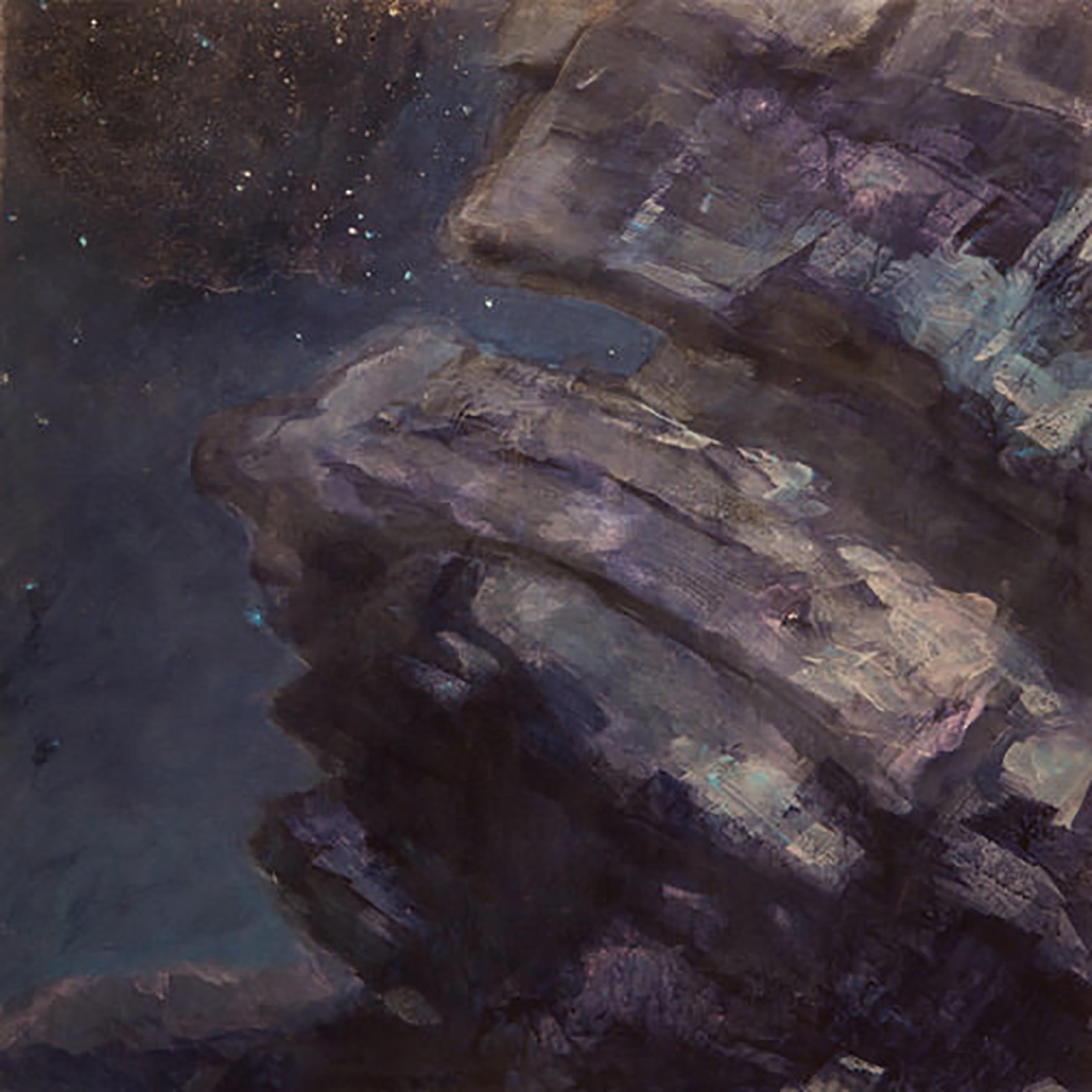 "NIGHT ROCKS 1 (24x 24"")  (2009)"