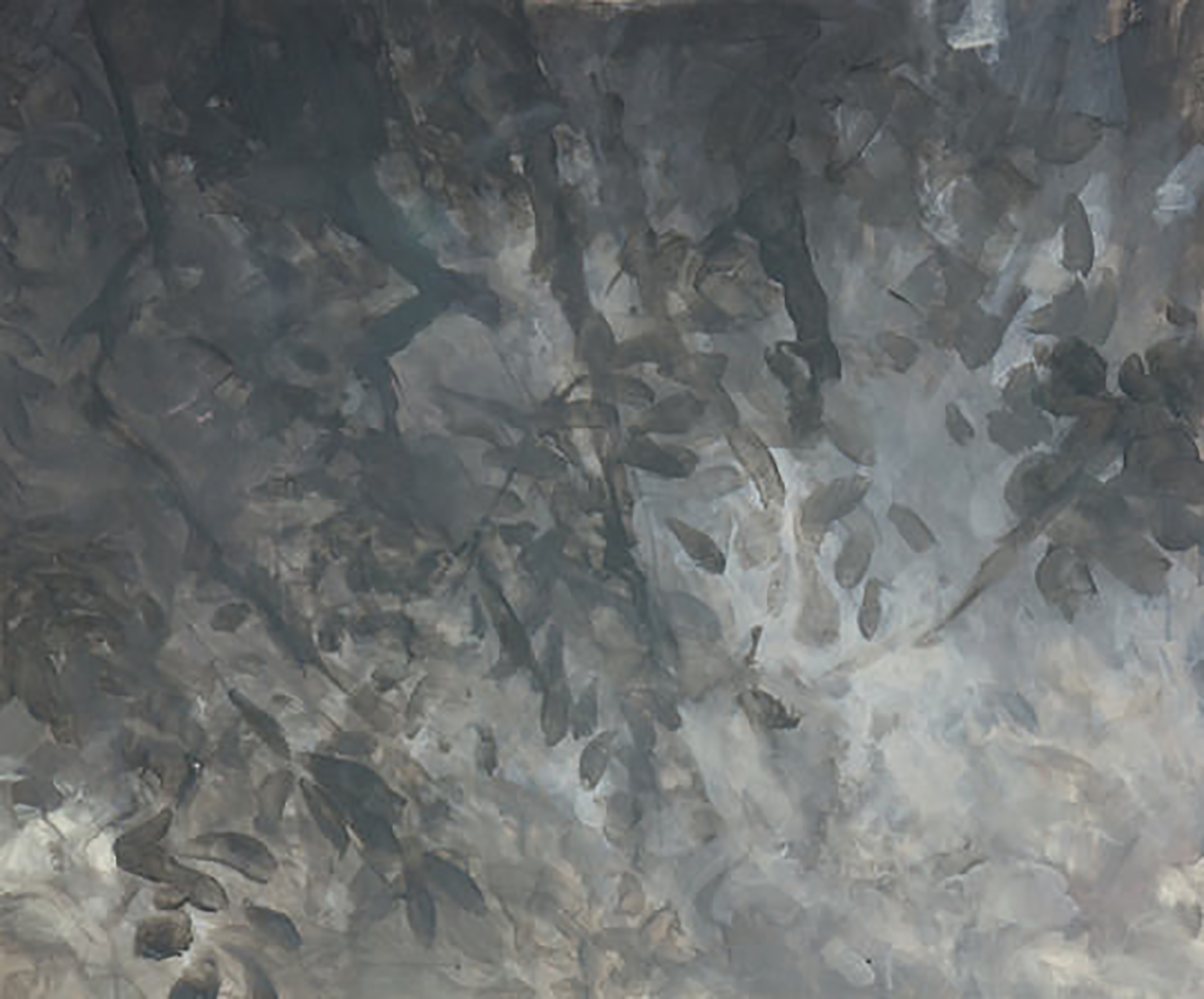 """STUDY FOR BRANCHES ( 30X36"""") 2009 (1)"""