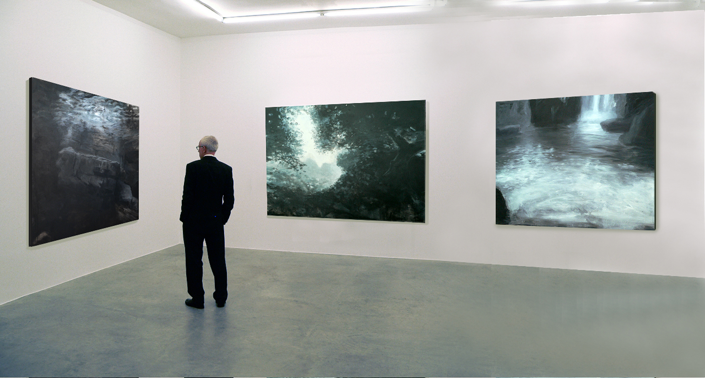 """Grotto Series 48""""by 48""""  left wall,  48x60"""" right wall"""
