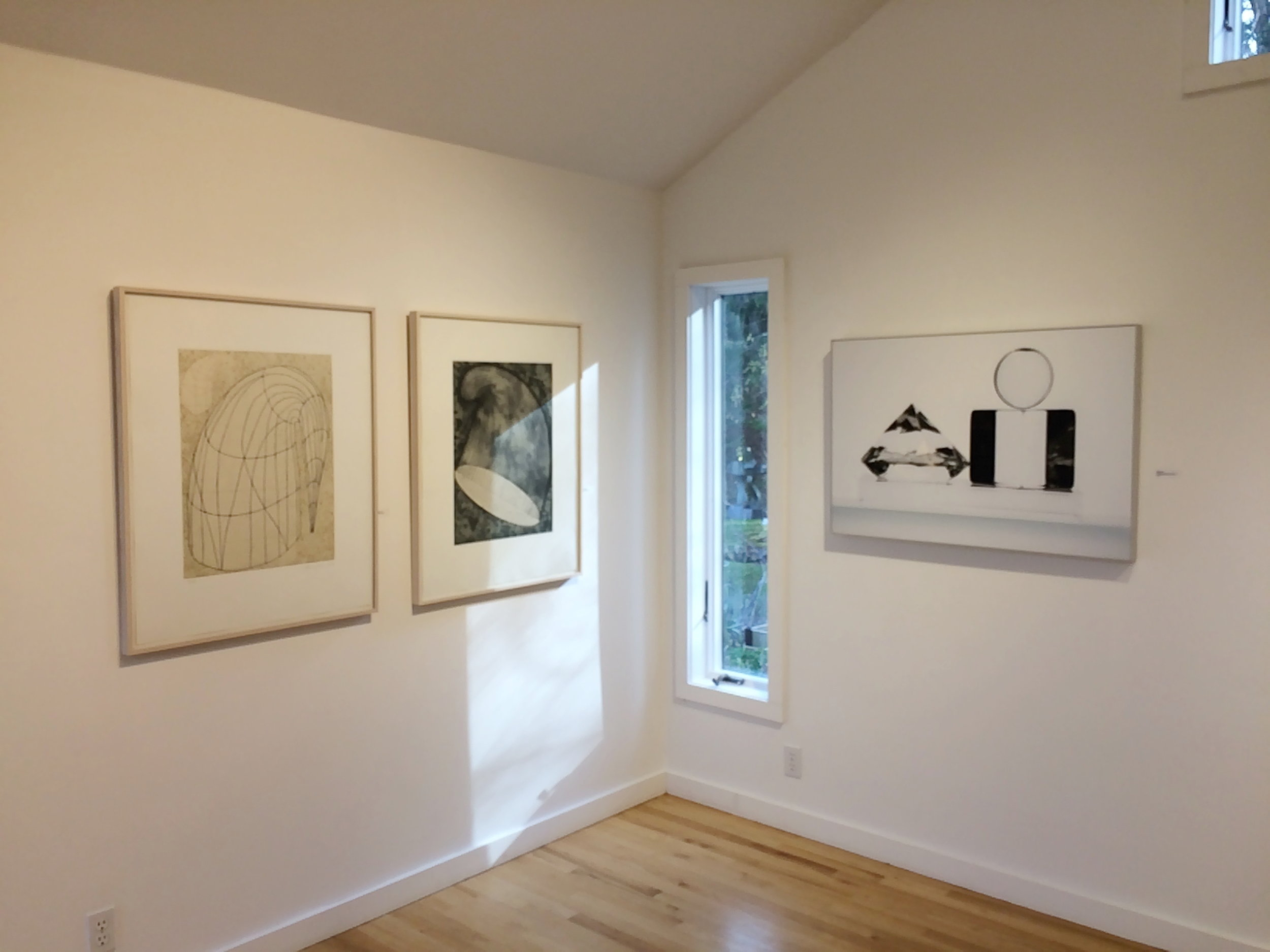 Elena Zang Gallery 2015 ( Martin Puryear works on left wall)