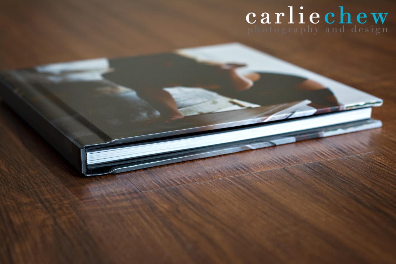 Finao boudoir book binding, designed by boudoir photographer Carlie Chew of Tampa, Florida