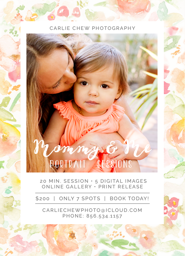 Mother's Day Mini Sessions with Family Photographer Carlie Chew Photography in Tampa, Florida