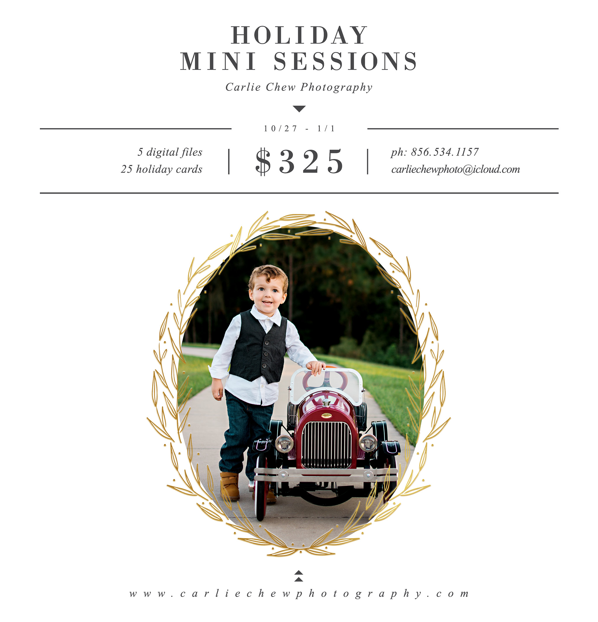 Holiday Mini Session photos taken at Fishhawk Ranch in Lithia Florida by Carlie Chew Photography