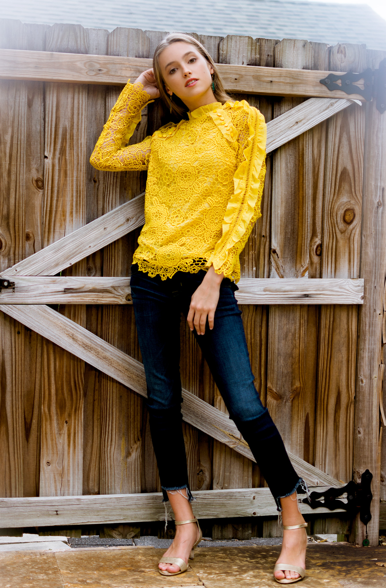 Fall fashion editorial, Paige Denim and Marshall's clothing photographed by Carlie Chew in Tampa, Florida