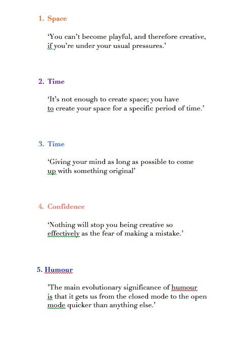 John Cleese - Five Ways to Foster Creativity