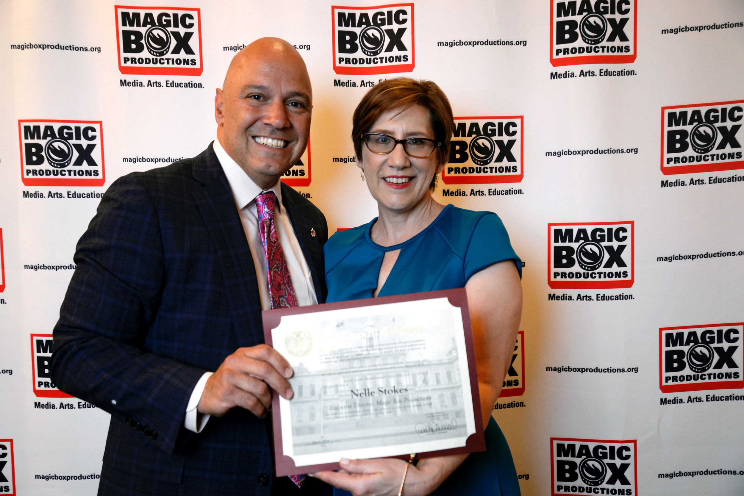 NYC Council Member Paul Vallone & Magic Box Executive Director Nelle Stokes